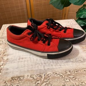 Converse Red and Black Rare All Star Sneakers SZ 6